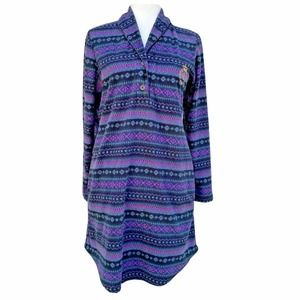 Ralph Lauren Aztec Fleece Nightgown Pajamas